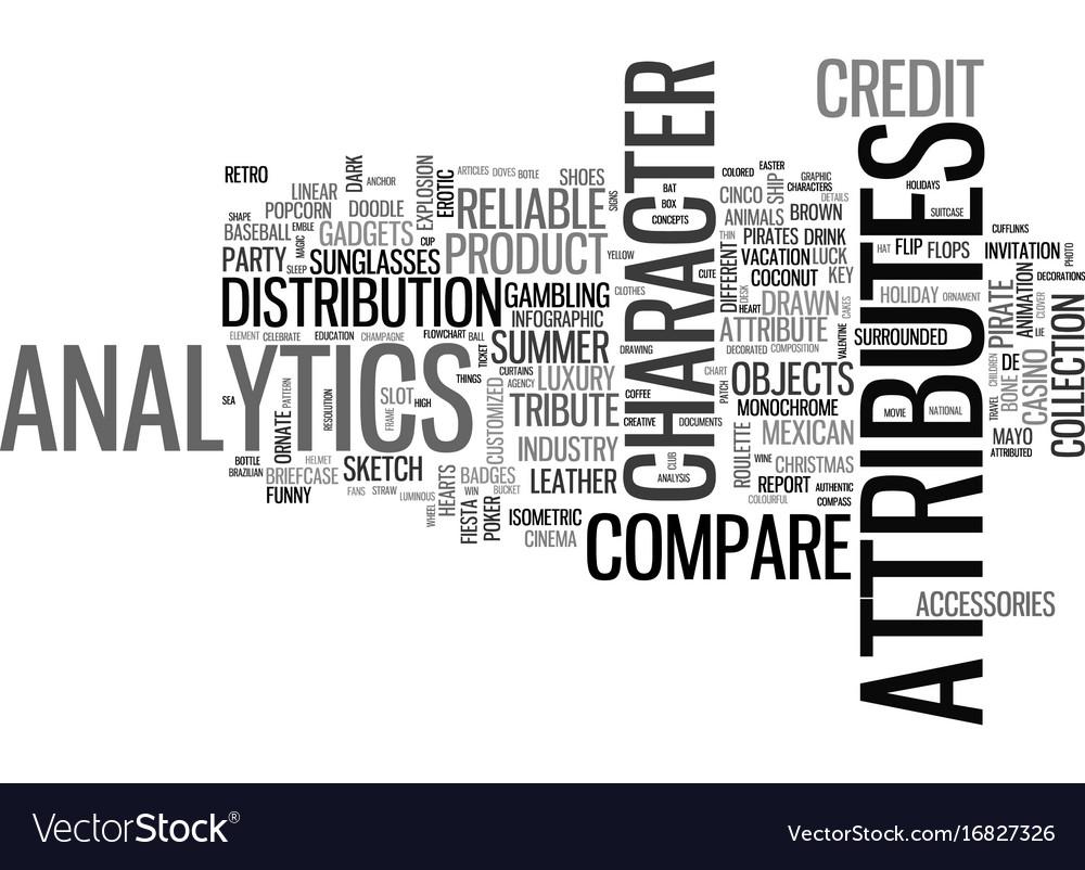 Attributes word cloud concept vector image