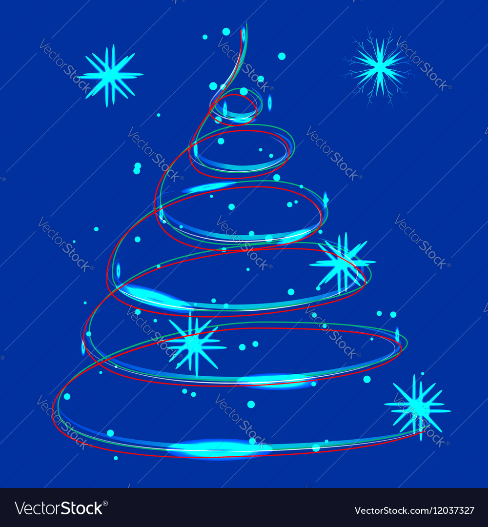 Glowing Christmas light vector image