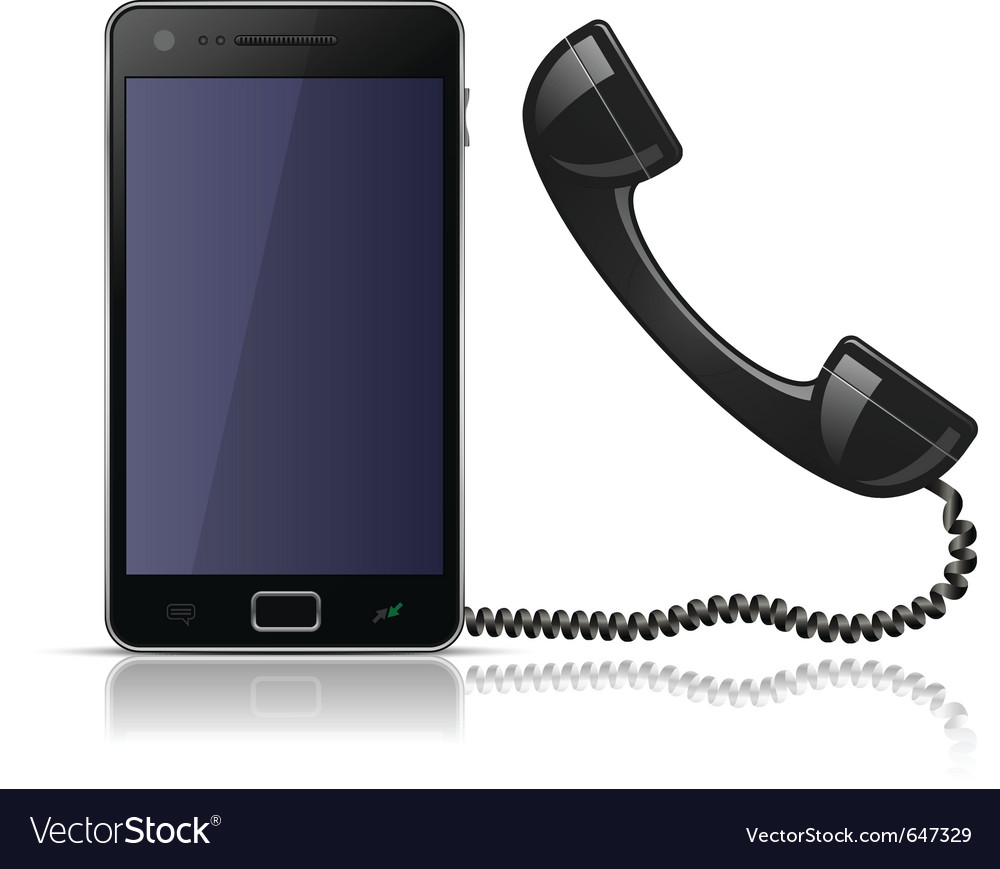 Old school telephone handset for smartphone Vector Image
