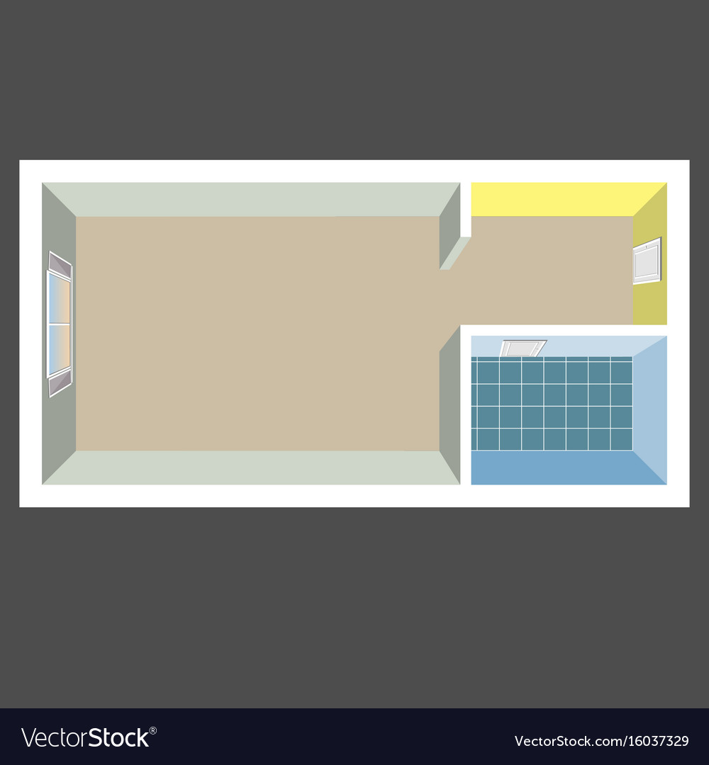 Flat projection apartment colorful vector image