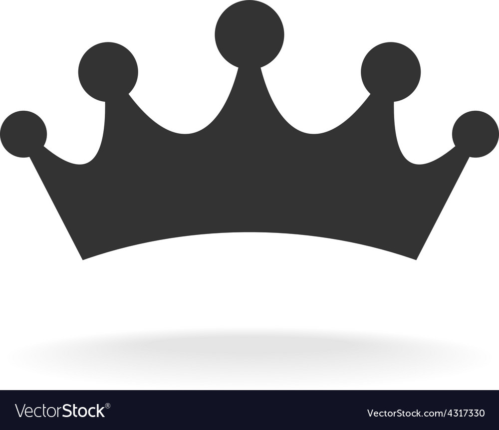 Crown of earl Black isolated silhouette on vector image