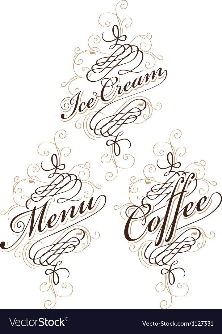 Calligraphy food Vector Image