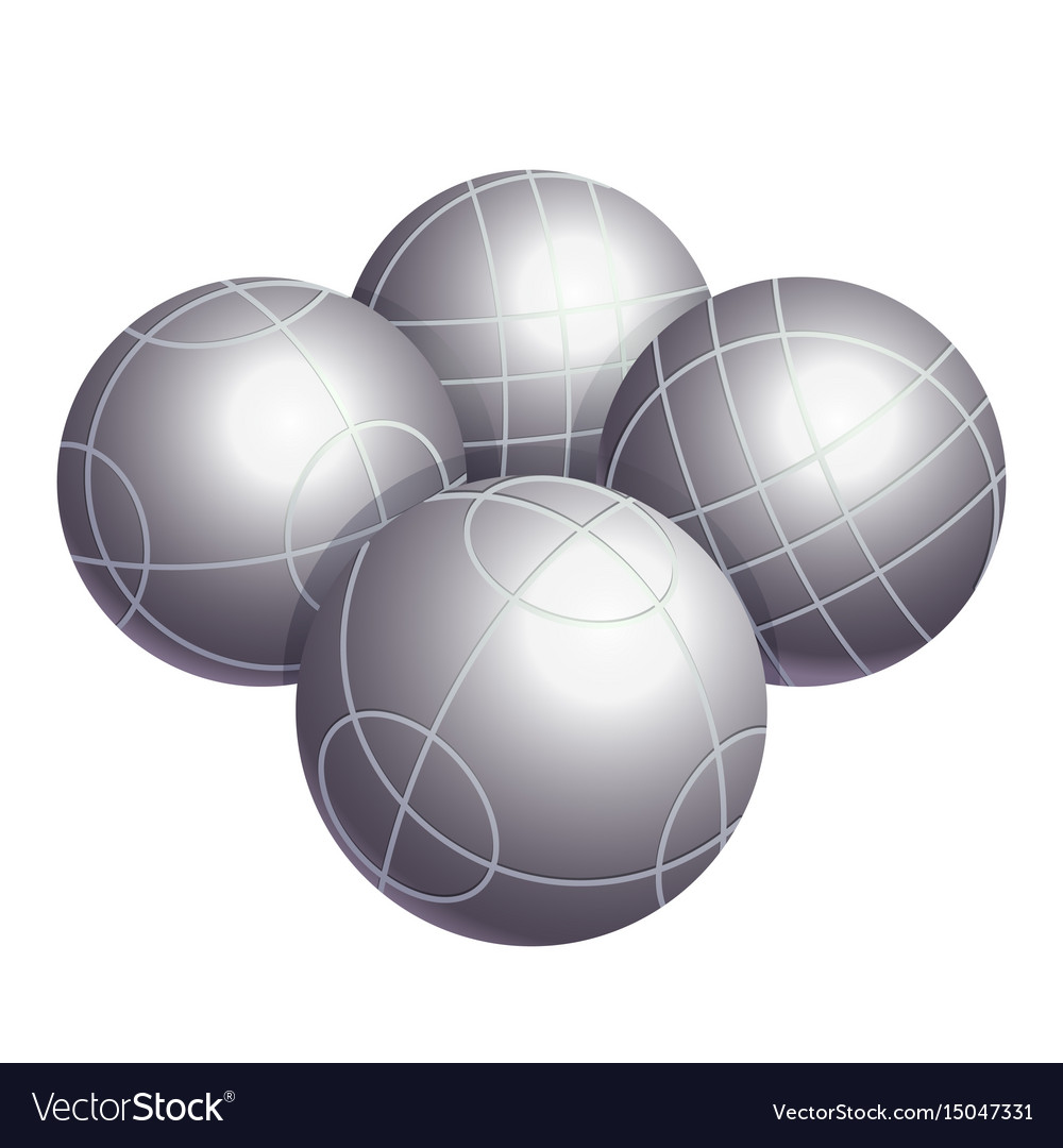 Colorless bocce balls made of metal or plastic vector image