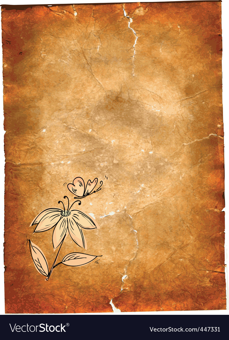 Grunge paper vector image
