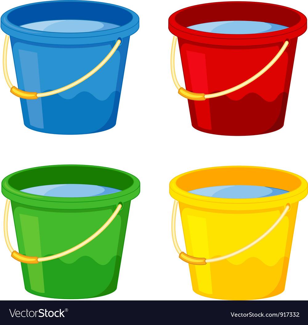 Buckets vector image