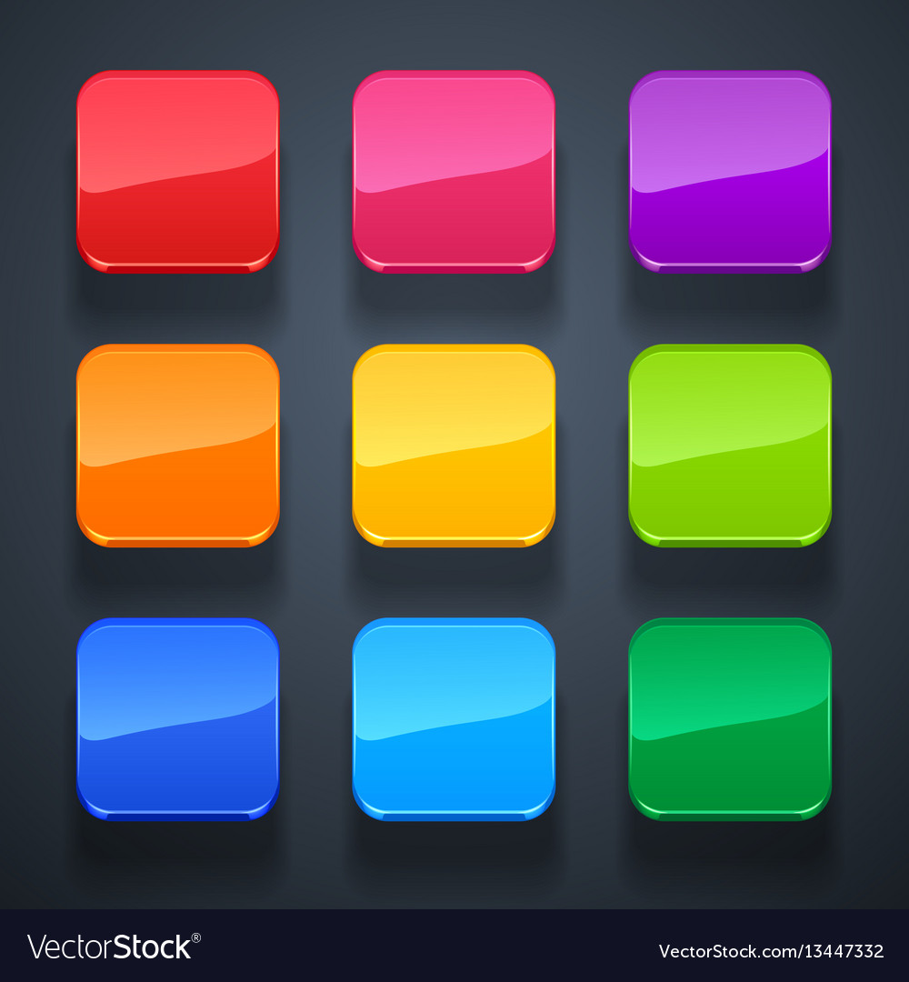 Background for the app icons-glass set vector image