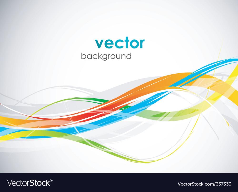 Modern sleek background vector image