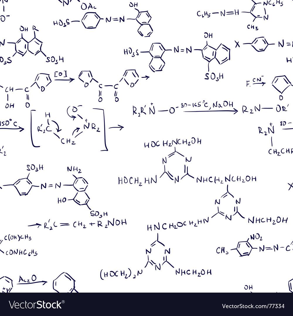 Chemistry formulas seamless Vector Image