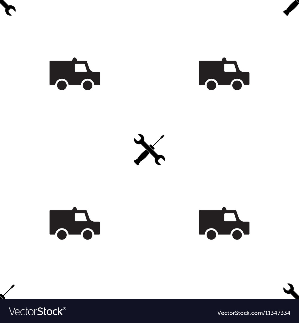 Auto service or car repair seamless pattern vector image