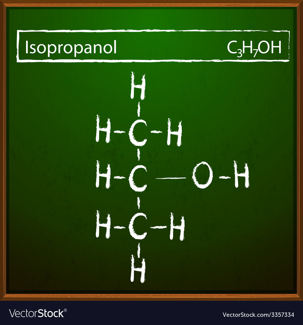 Isopropanol molecules vector image