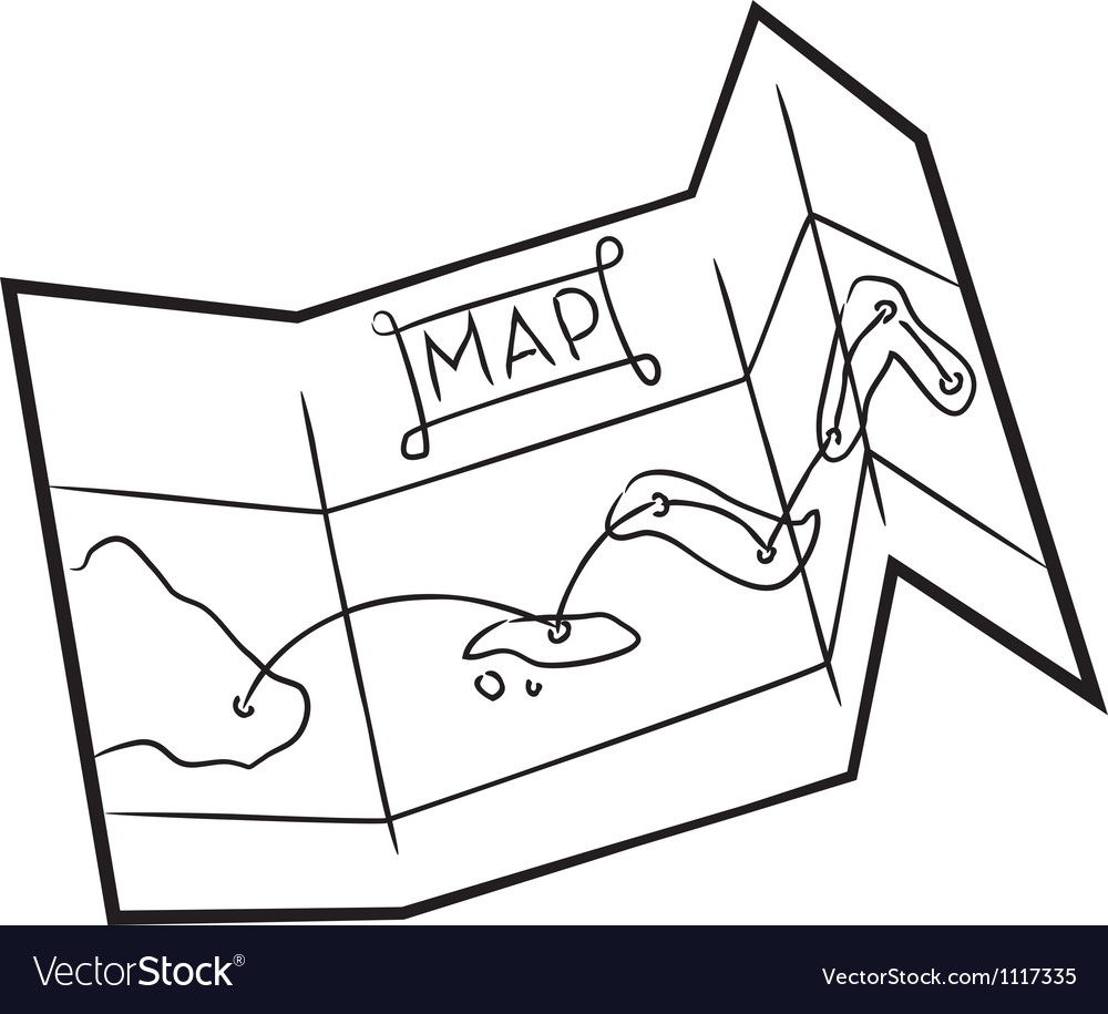 Map doodle vector image