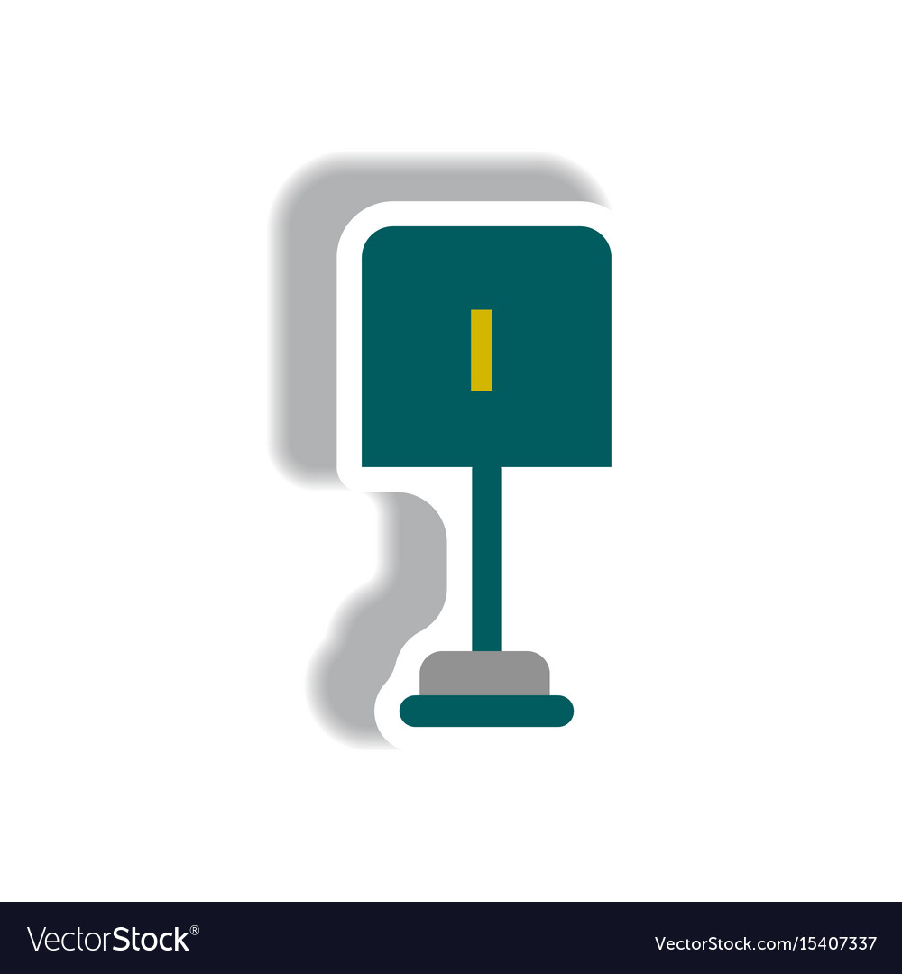 Stylish icon in paper sticker style small shovel