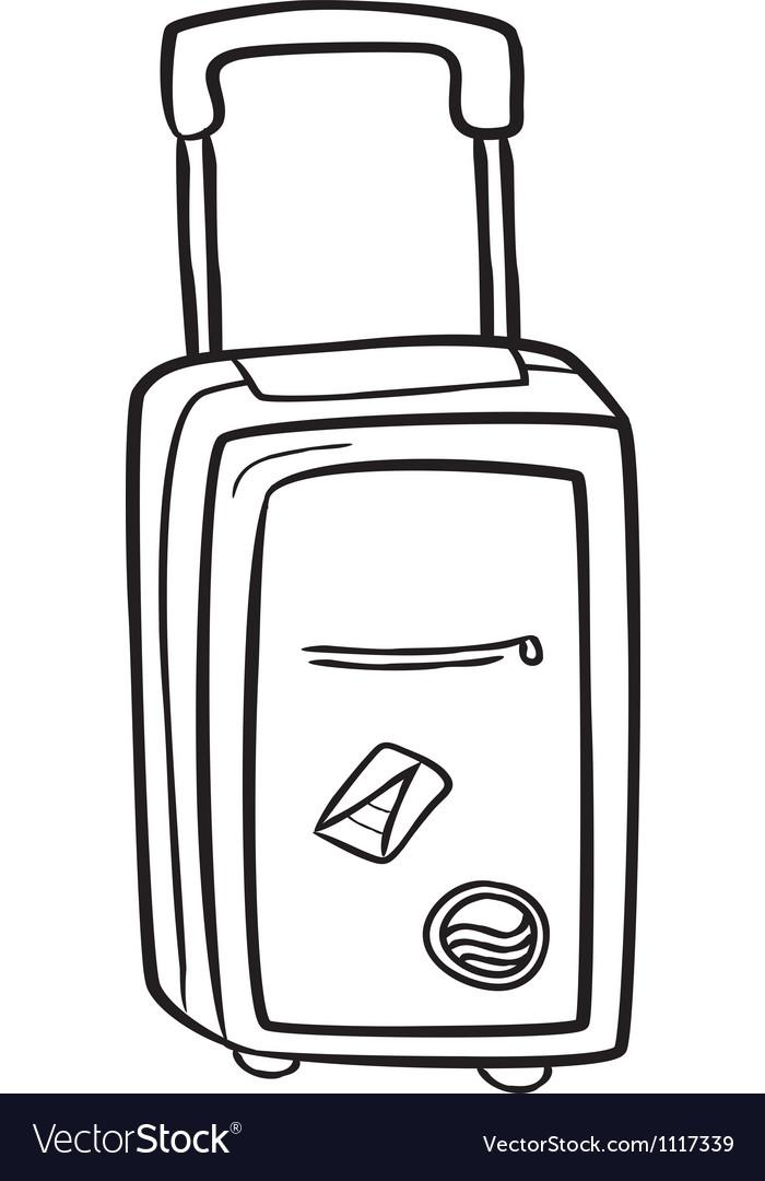 Travel bag doodle vector image