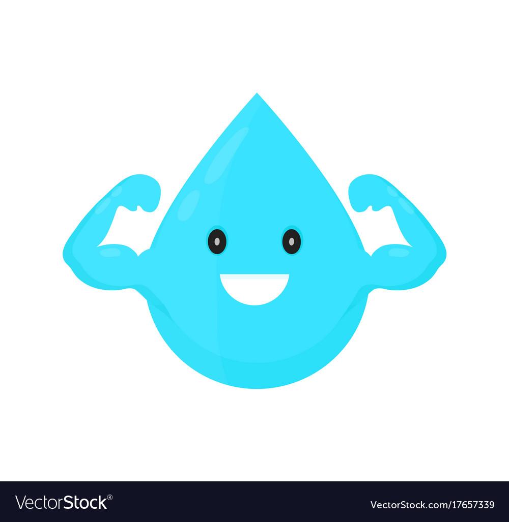 Water drop modern style cartoon vector image