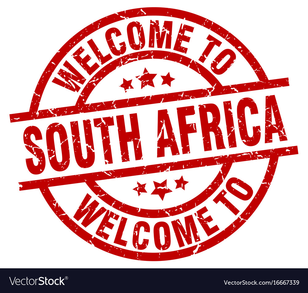 Welcome to south africa red stamp royalty free vector image welcome to south africa red stamp vector image buycottarizona