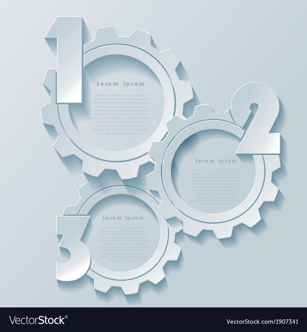 Abstract modern infographics design with cogwheels vector image