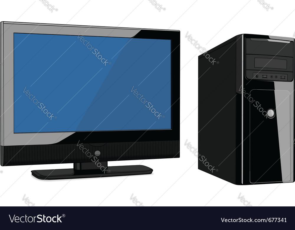 Modern computer vector image