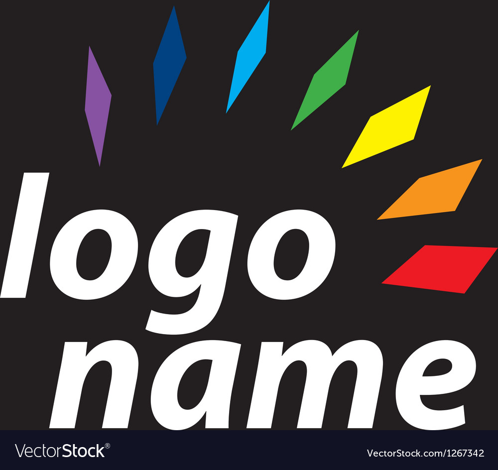 Logo spectrum vector image