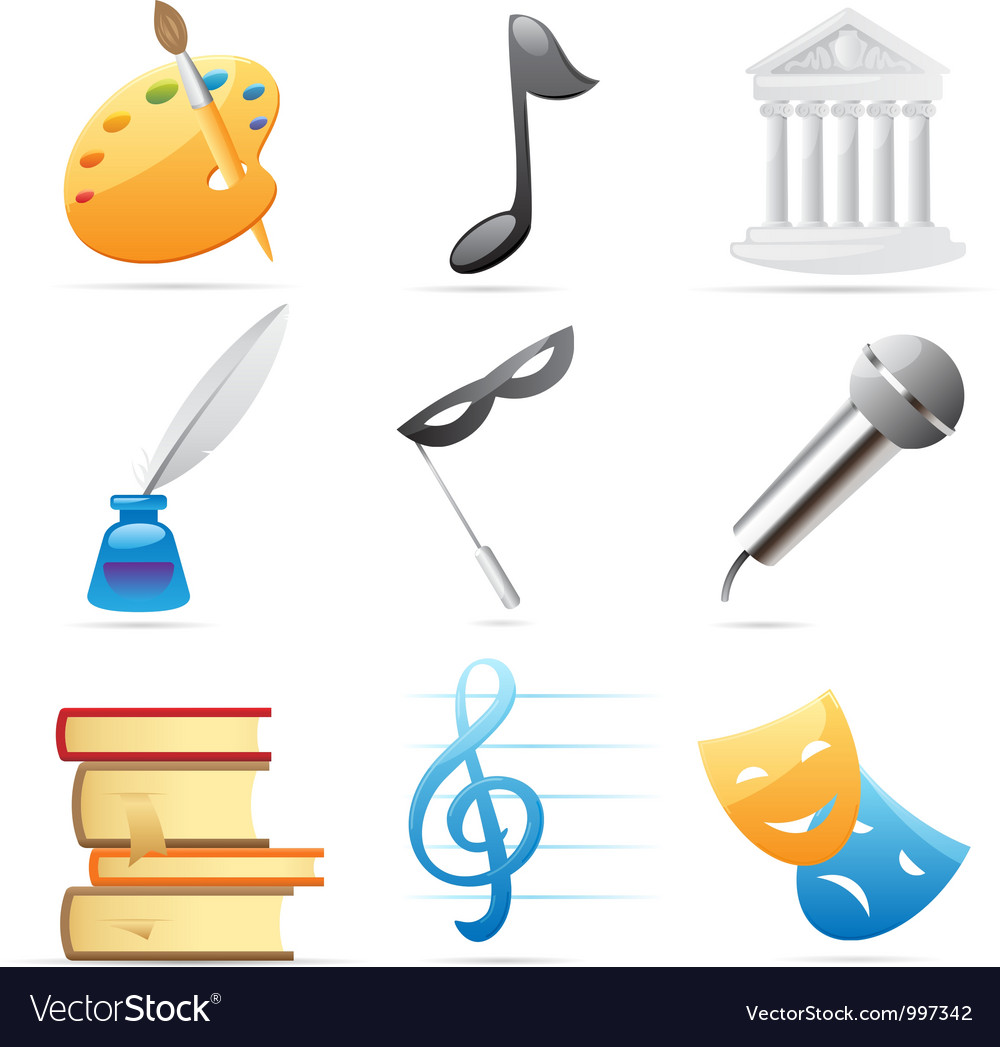 Icons for arts vector image