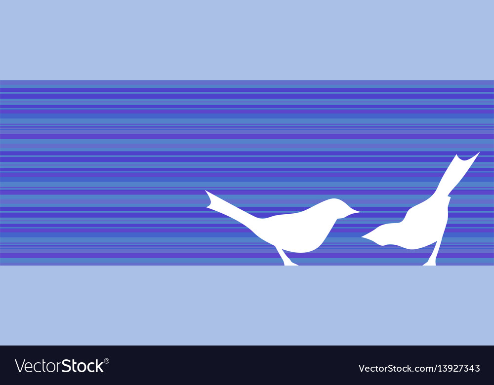 Birds silhouettes banner vector image