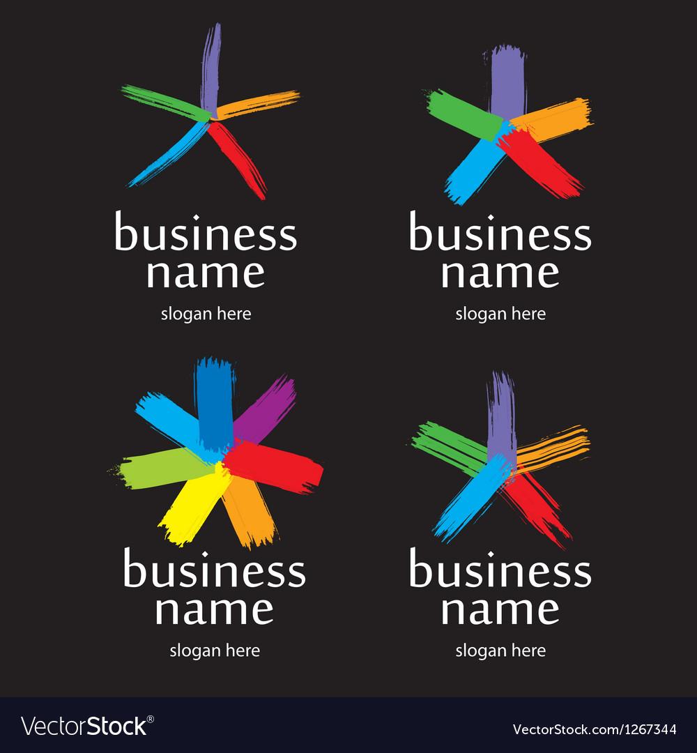 Logo splash vector image
