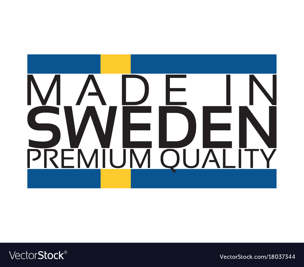 Made in sweden icon premium quality sticker with vector image