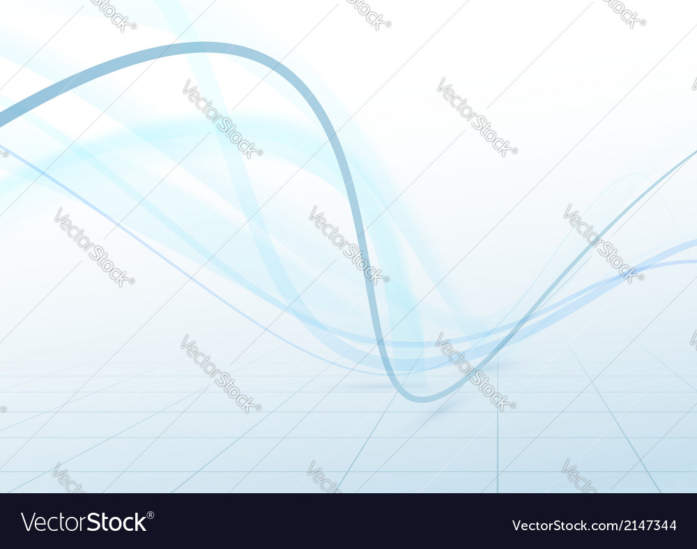 Transparent swoosh blue waves perspective vector image