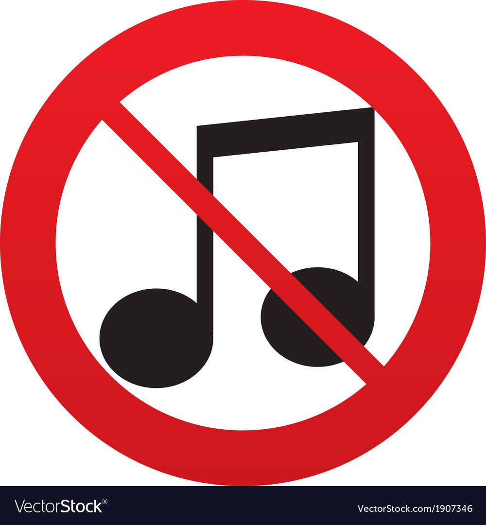 No music note sign icon musical symbol royalty free vector no music note sign icon musical symbol vector image biocorpaavc Images