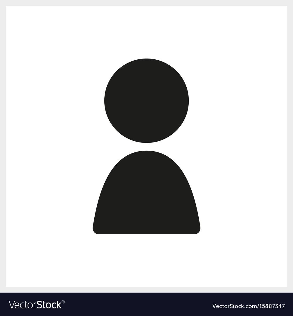 Black human icon in simple design vector image