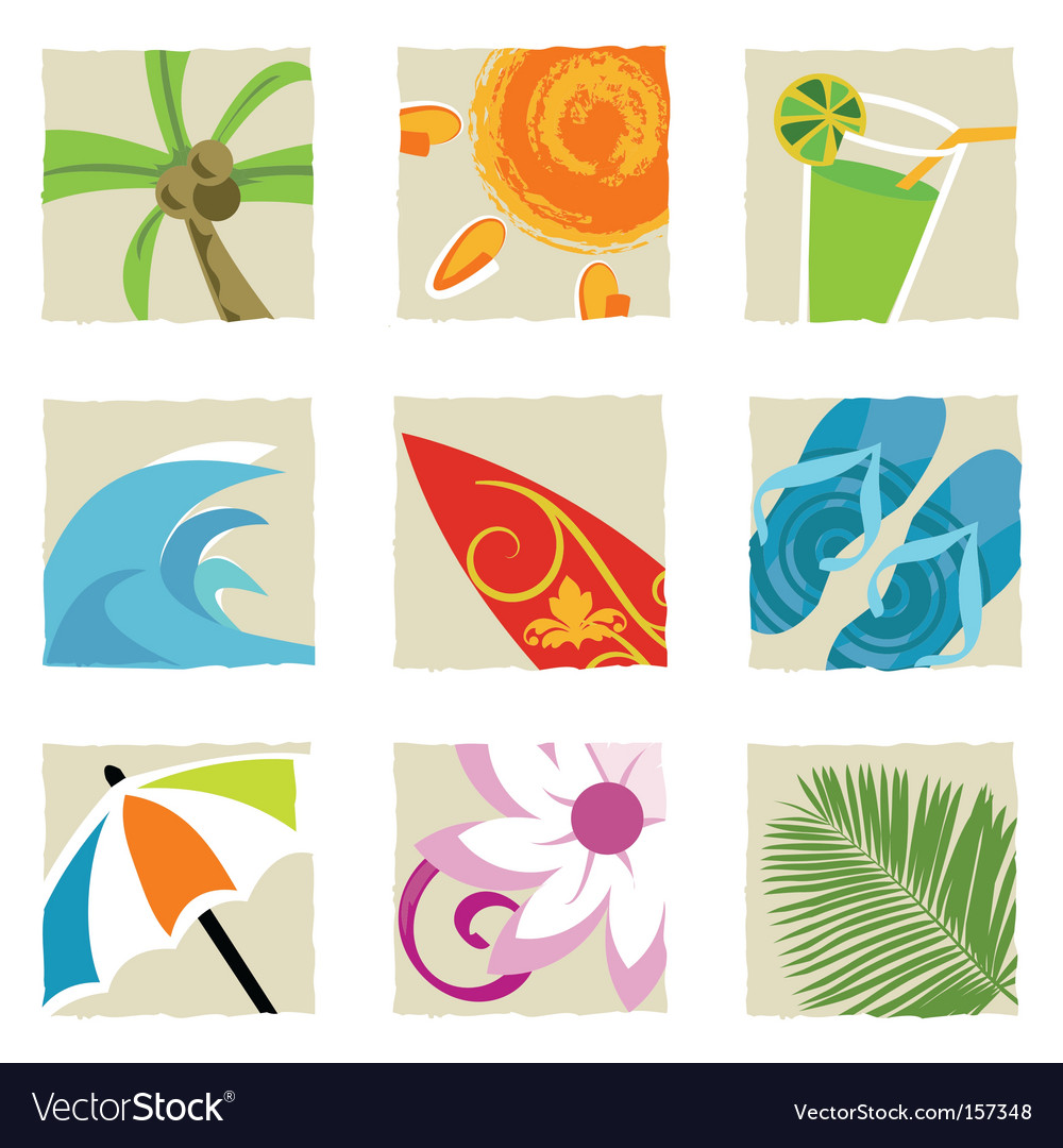 Summer graphics vector image