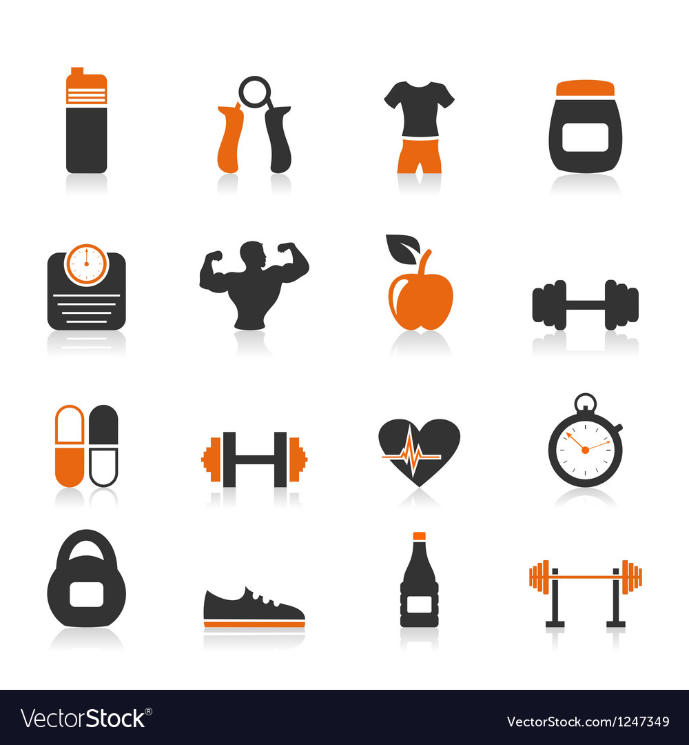 Fitness an icon vector image