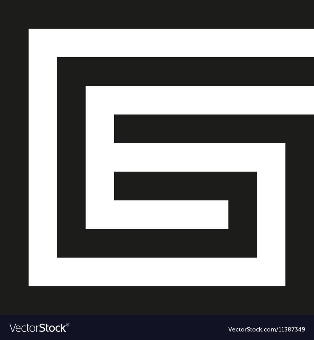 Unusual geometric letter G Architecture vector image