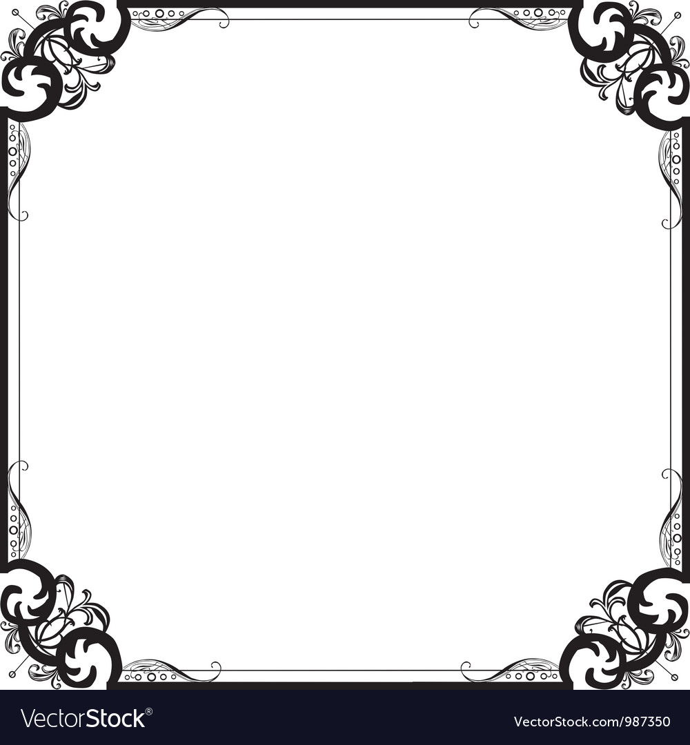 Frame with a pattern vector image