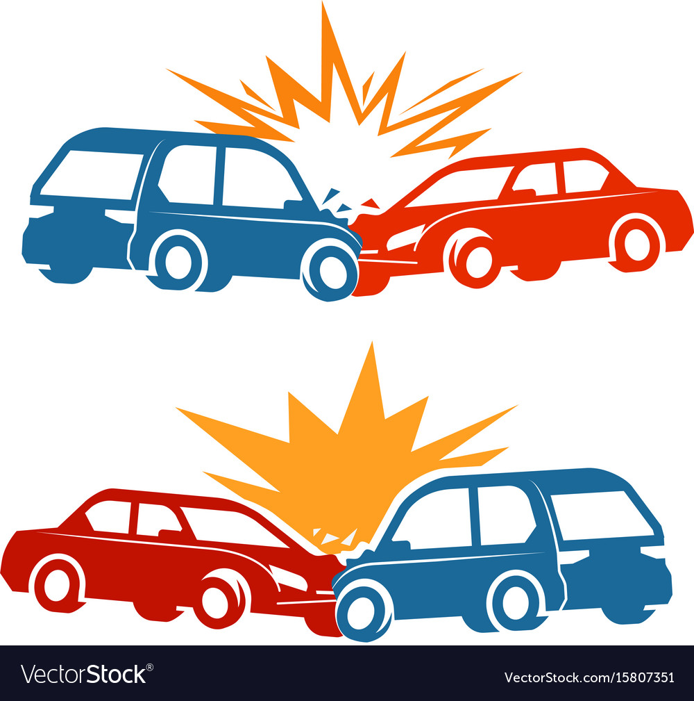 Car crash traffic accident icon Royalty Free Vector Image