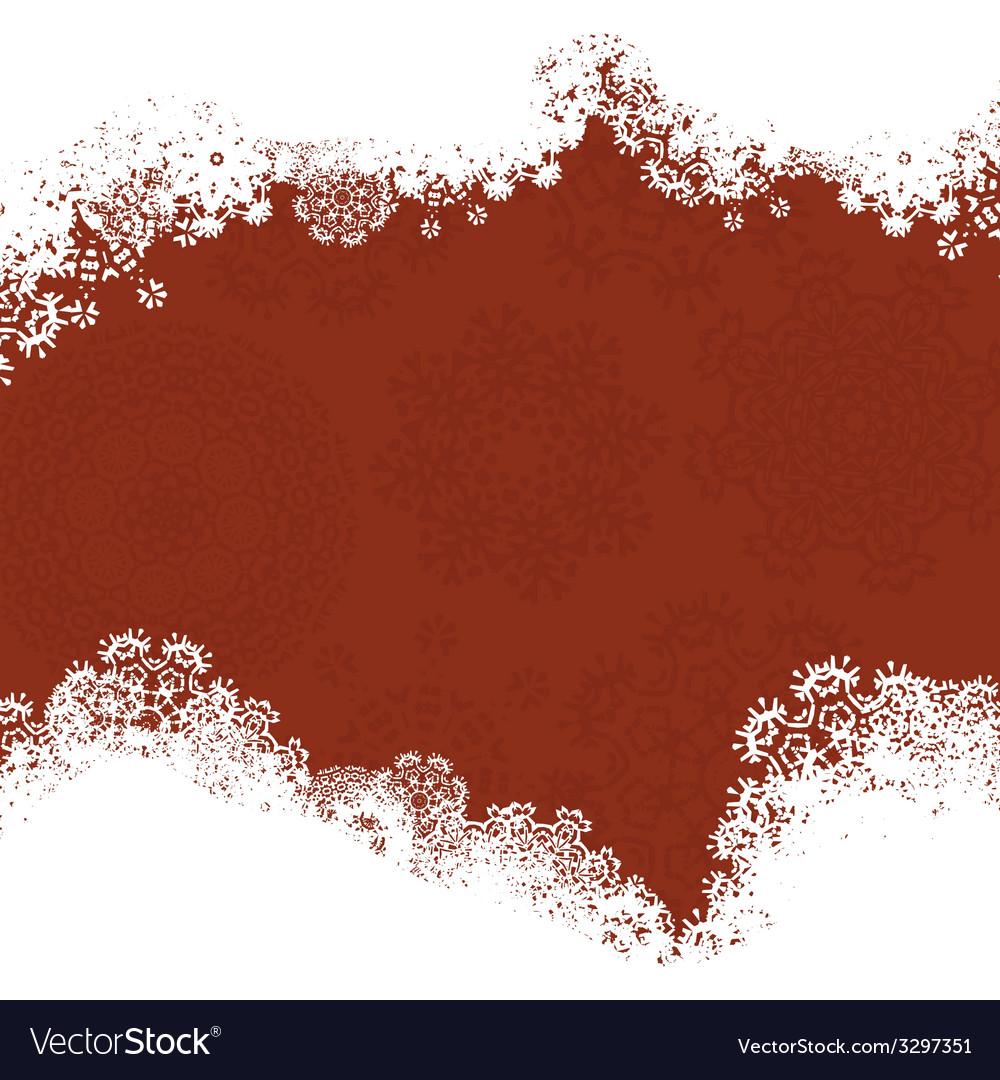 Snowflake Christmas Card vector image