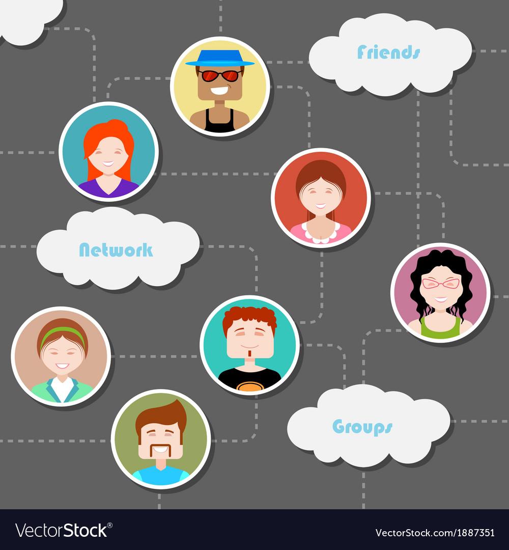 Social Media Cloud Computing Network vector image