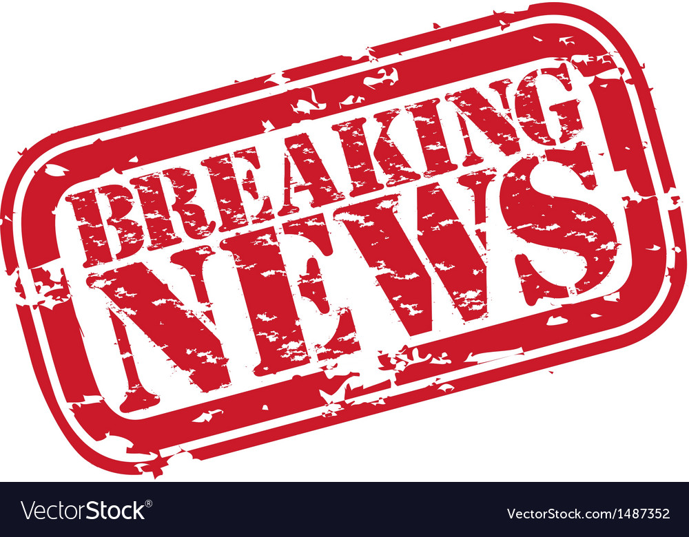 Breaking news stamp vector image