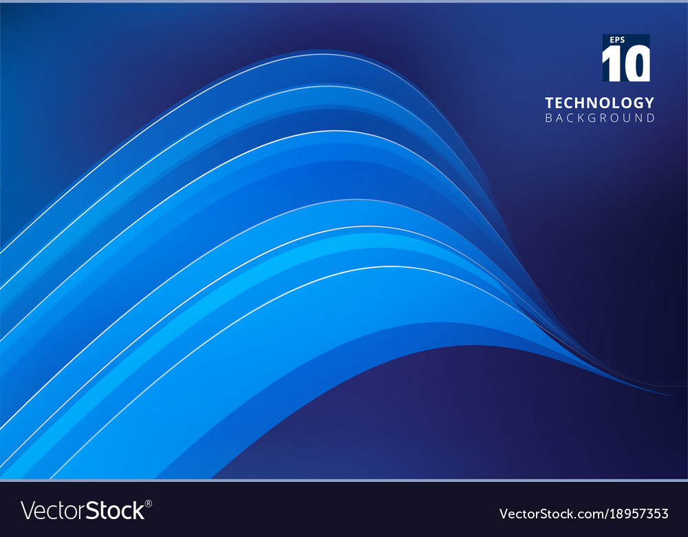 Abstract blue image that depicts technology with vector image