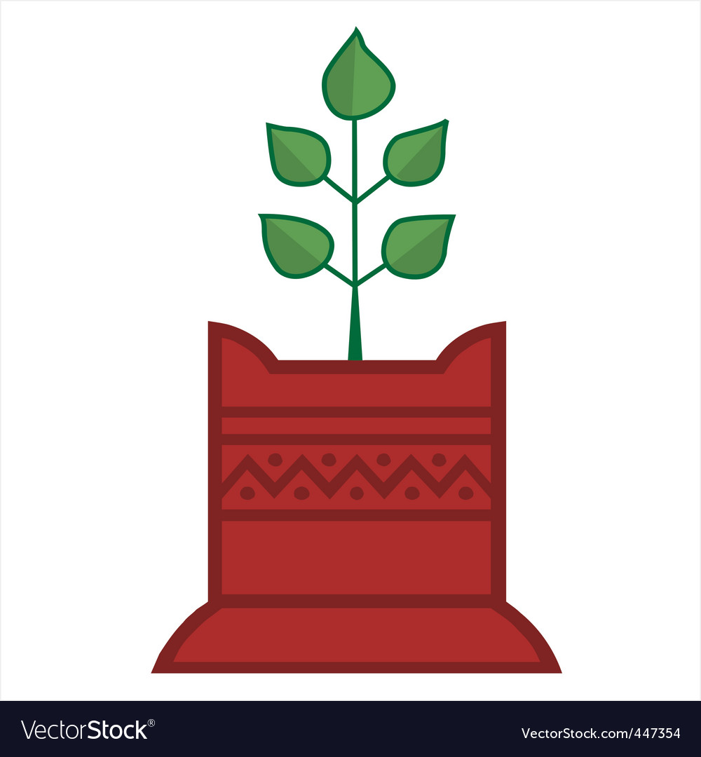 Tulsi plant vector image