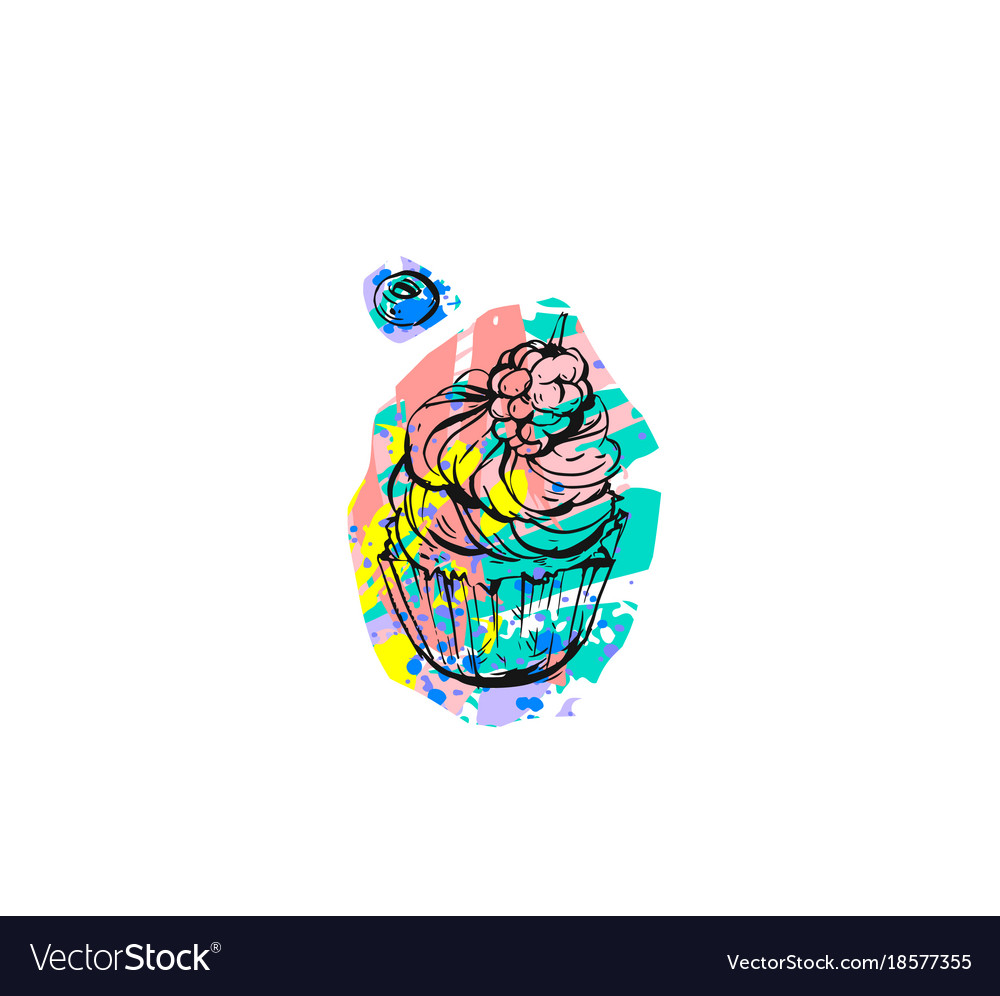 Hand drawn abstract graphic creative modern vector image