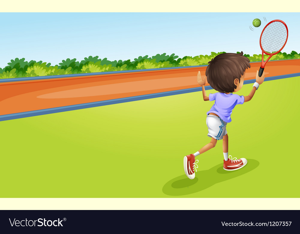 A tennis player vector image