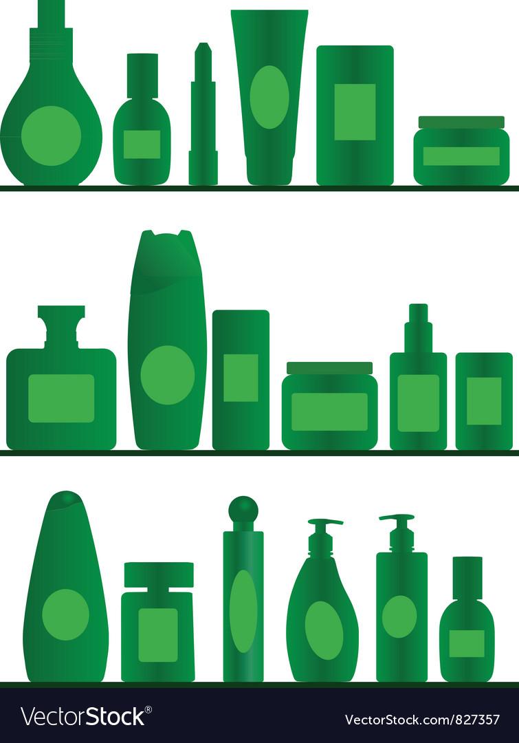 Bathroom shelves Vector Image