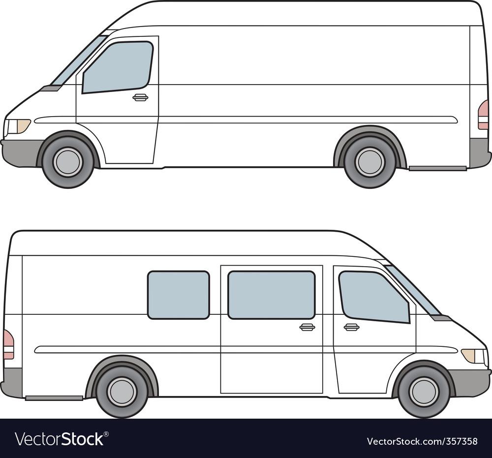 Minibus illustration vector image