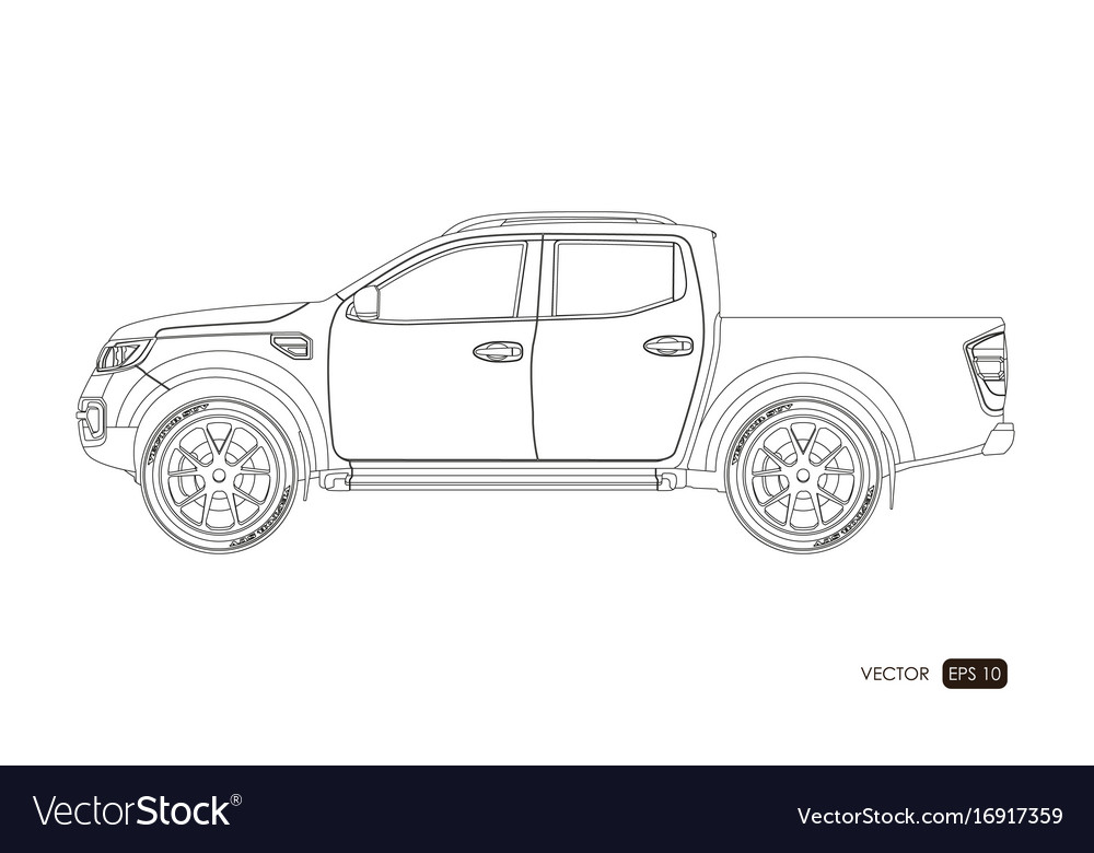 Blueprint of suv contour drawing of car royalty free vector blueprint of suv contour drawing of car vector image malvernweather Image collections
