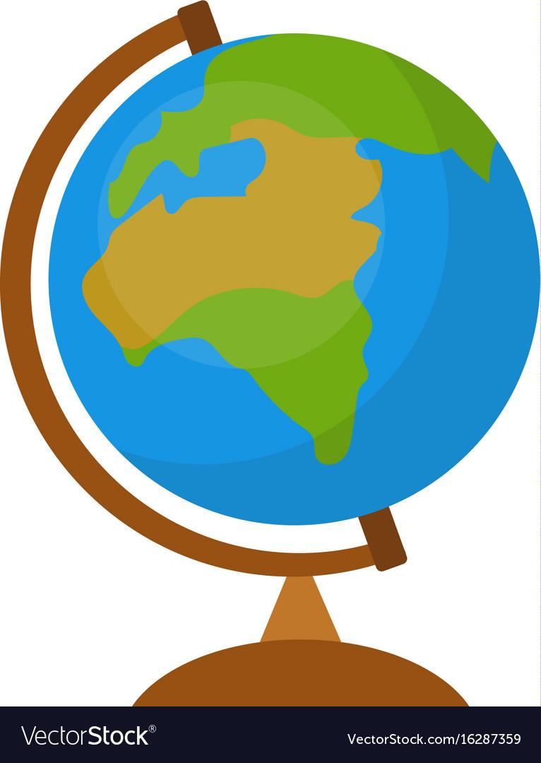 Globe icon flat cartoon style isolated on white vector image