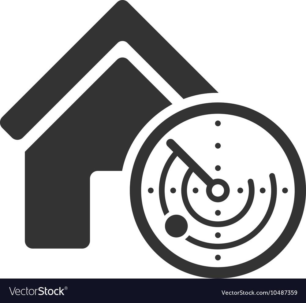 Realty Radar Flat Icon vector image