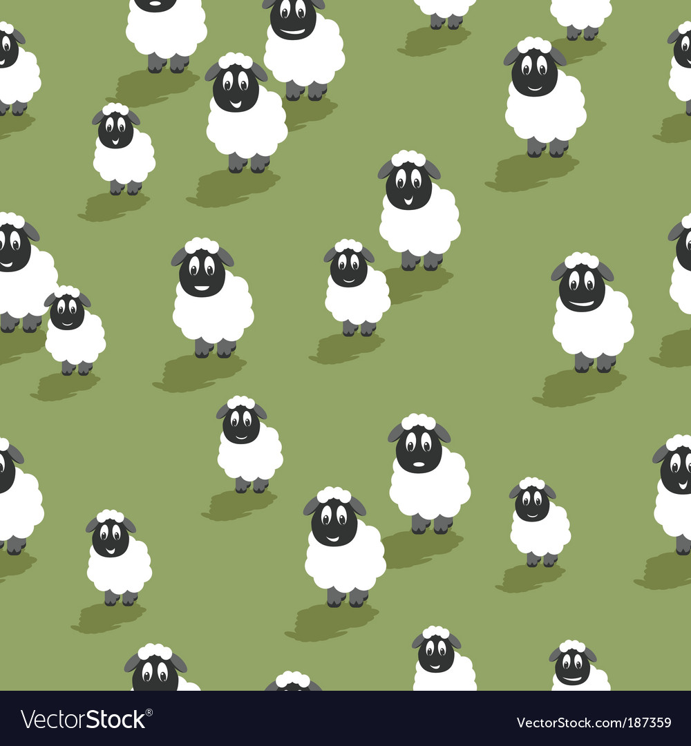 Seamless sheep vector image
