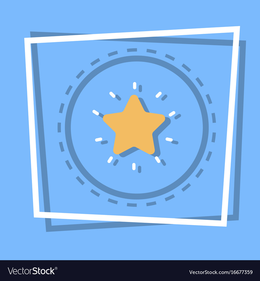 Star icon best prize award web button vector image