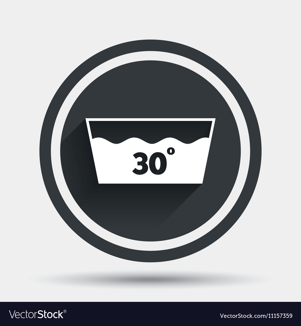 Type degrees symbol image collections symbol and sign ideas wash icon machine washable at 30 degrees symbol vector image buycottarizona image collections biocorpaavc Choice Image