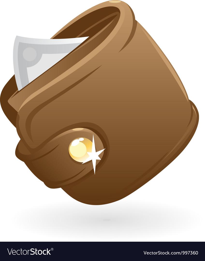 Icon of purse vector image